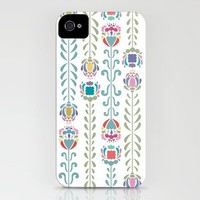 Retro Flowers iPhone Case by Anna Deegan | Society6