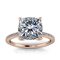8mm Round Moissanite Engagement Ring - Emmet