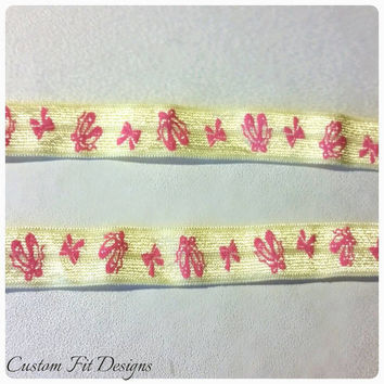 Yellow and Pink Ballerina Dance Sleeve holders Sleeve scrunchies Sleeve bands T-shirt bands T-shirt holders T-shirt sleeve bands T-shirt