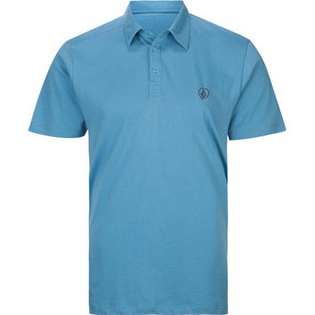 Volcom Smasher Solid Mens Polo Shirt Blue  In Sizes