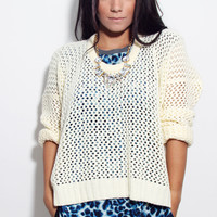 Vanilla Mesh Knit Sweater