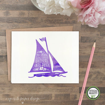 Sigma Sigma Sigma Faithful Unto Death Tri-Sigma | Set of 8 Folded Notes | Sorority Big Little Reveal Gift | Officially Licensed | SSS-SA