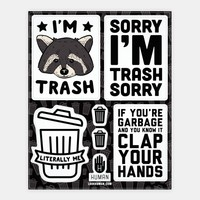 I'm Trash Stickers