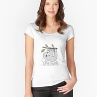 """""""Super Mama Mom and Baby Sloth"""" Women's Relaxed Fit T-Shirt by Miri-Noristudio 