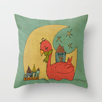 Lets travel together Throw Pillow by Moonlight Studio | Society6