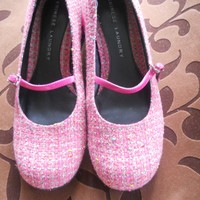 Vintage Pink Tweed Chinese Laundry Shoes
