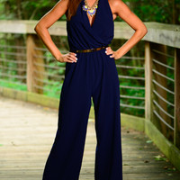 My Story Jumpsuit, Navy