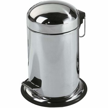 TE 30 Round Step Trash Can, Stainless Steel Wastebasket W/ Lid Cover