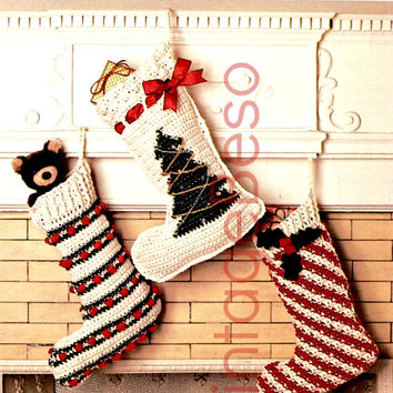 Shop Crochet Christmas Stocking On Wanelo