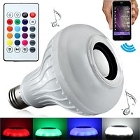 Smart Bluetooth LED Light Bulb Speaker with Remote Control