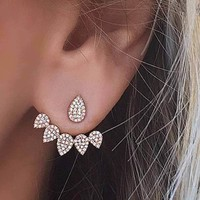 Crystals Stud Double Sided Earring