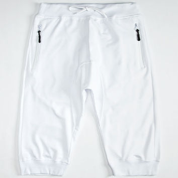Uncle Ralph Mens French Terry Jogger Shorts White  In Sizes