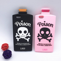 "NEW 3D Skull Cover Chill Pills Poison Soft Silicon Case For iPhone SE 5 5S 6 6S 4.7"" 6 6S Plus 5.5"""