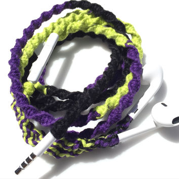 Rhapsody MyBuds Tangle Free Earbuds - Wrapped Headphones - Your Choice of Headphones