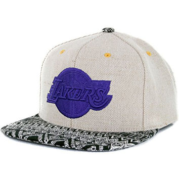 6612fb10aa9 Los Angeles Lakers Hemp Crown Snapback Hat Mitchell Ness Strapback Licensed  NBA
