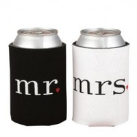 Hortense B. Hewitt Wedding Accessories Mr. and Mrs. Can Coolers Gift Set