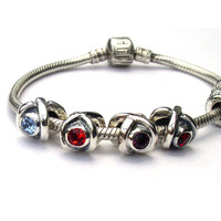 Birthstone Charms European Beads Sterling Silver