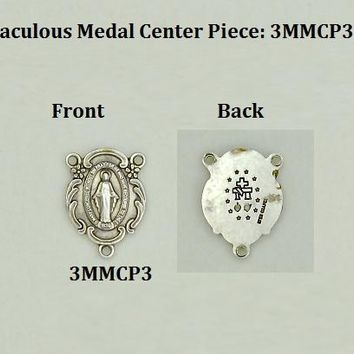 Miracle Medal Rosary Centerpiece for Small Rosaries