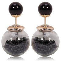 Gum Tee Tribal Earrings - Caviar Collection Black