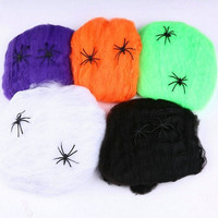 Kid Toys Spider Web Stretchable Spiderweb Cobweb Party Decoration For Halloween Prop = 1946774148