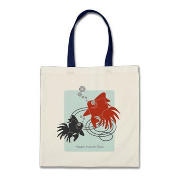 Happy Aquatic Days – Cute Funny Goldfish Budget Tote Bag