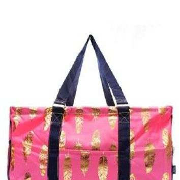 Utility Tote Large - Feather Print