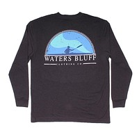 Paddler Long Sleeve Tee in Charcoal by Waters Bluff - FINAL SALE