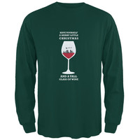 Christmas in a Glass Forest Adult Long Sleeve T-Shirt