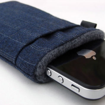 iphone 4 Cover /iphone Case /Sleeve/pod Touch/ Navy by pomella