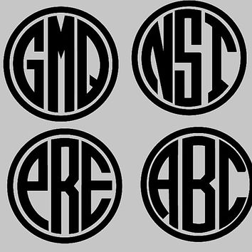 Monogram Sticker  - Personalized Vinyl Decal - Water bottle sticker -Bridesmaids Sticker - monogrammed Decal - custom sticker - DECALS ONLY.
