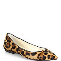 Brian Atwood - Leopard Calf Hair Point-Toe Flats - Saks Fifth Avenue Mobile