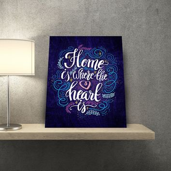 Home Is Where The Heart Is 11 x 14 Canvas Set (Free Shipping)