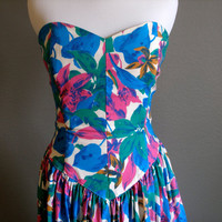 Strapless Vintage Summer Dress