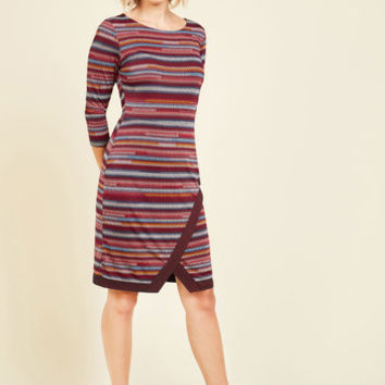 Bestowed With Composure Striped Dress | Mod Retro Vintage Dresses | ModCloth.com
