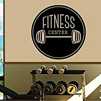 Dabbledown Fitness Center Circle Logo Version 102 Window Lettering Decal Sticker Decals Stickers