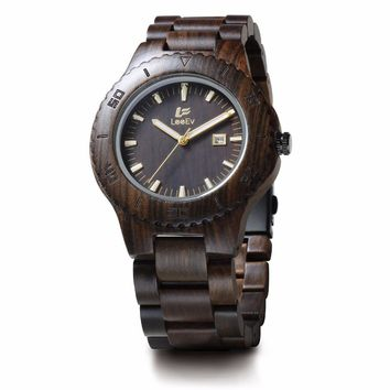 New Men Wooden Style Wrist Watches for Best Gift