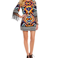GB Beaded Fringe Dress | Dillards