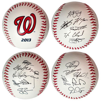 2013 Team Roster Signature Ball - Washington Nationals