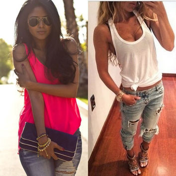 Summer Vest Sexy Casual Punk Tops T-shirts [6048692097]