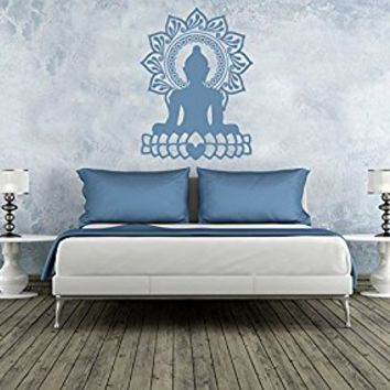 Wall Decal Vinyl Sticker Decals Art Decor Design Buddha Sun Lotus Mandala Ganesha Indian Lotos Om God Tribal Yoga Bedroom Dorm (r823)
