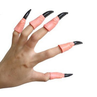 Novelty New Plastic Promotion Unisex Toy Halloween Props Funny Gadgets Masquerade Supplies False Nail Sets Random Hair 50g