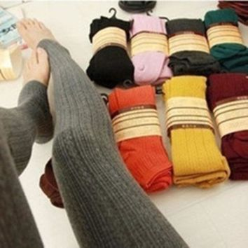 Winter Warm Knit Thick Leggings