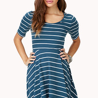 Darling Striped Skater Dress