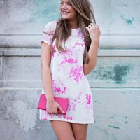Fresh Picked Pink Floral Shift Dress