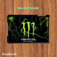 Monster Energy - ipad Mini case in durable plastic protective black or white