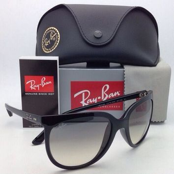 New RAY-BAN Sunglasses RB 4126 CATS 1000 601/32 Black Frame w/ Grey Glass Lenses