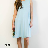 Pocket Tunic Dress- Sleeveless 10 colors!