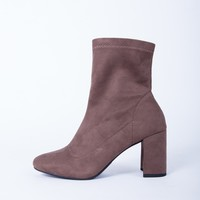 Effortless Suede Heel Boots