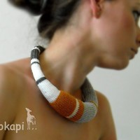 knitted okapi necklace by okapiknits on Etsy