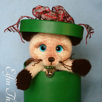 Elfin Thread - Siamese Kitty / Cat Amigurumi PDF Pattern (Crochet Siamese Kitty / Cat PDF)